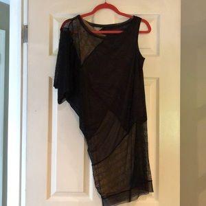 BCBG BLACK LACE dress with gold